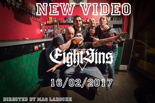 eight sins - beers and moshpit - clip - magalie laroche - interview - hardcore - metal - grenoble
